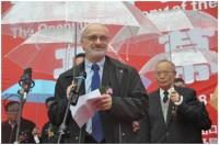 A magyar mezőgazdasági miniszterhelyettes Kardeván Endre mond beszédet